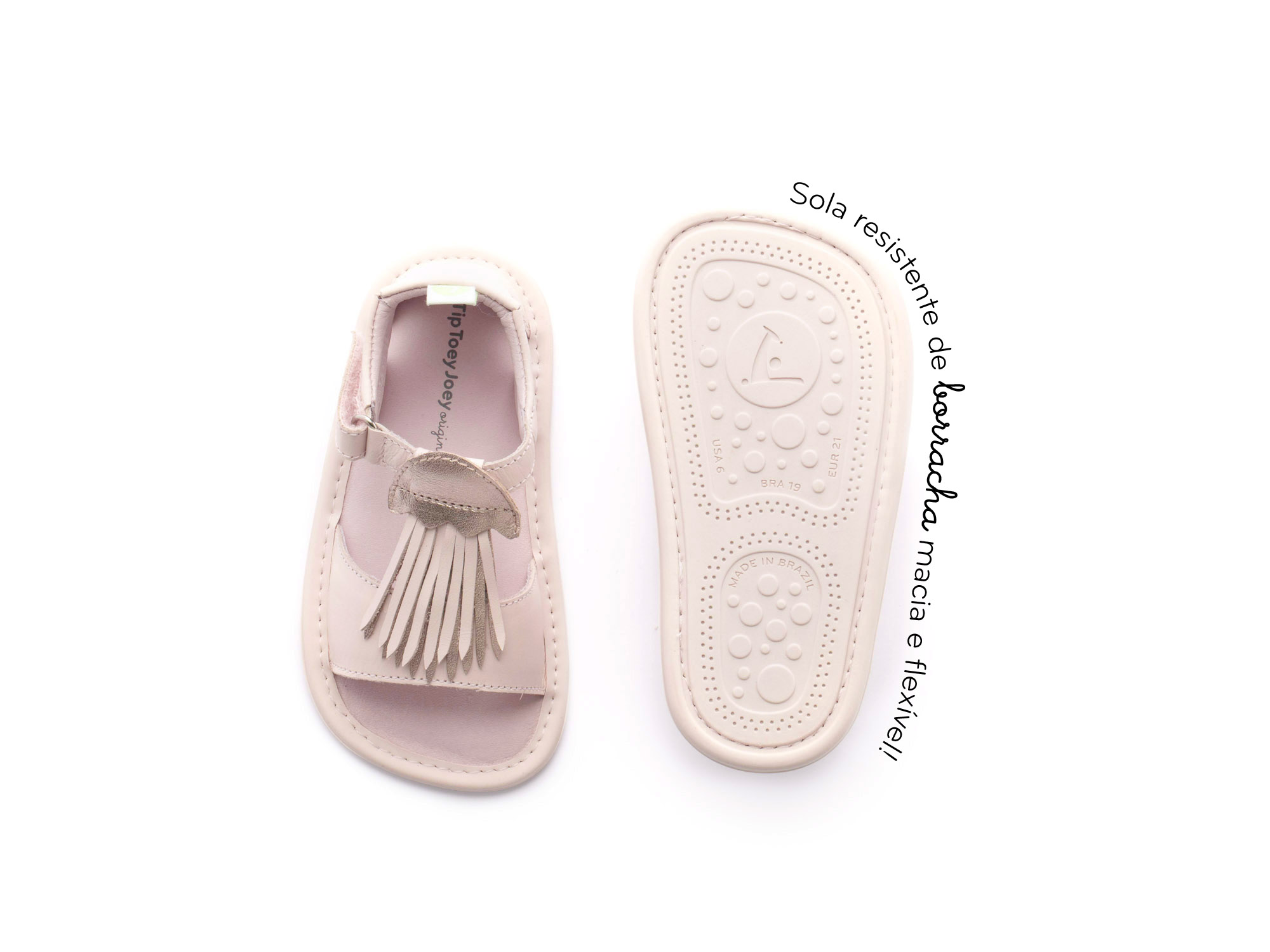 sandalia Bebê feminino jellyfishy