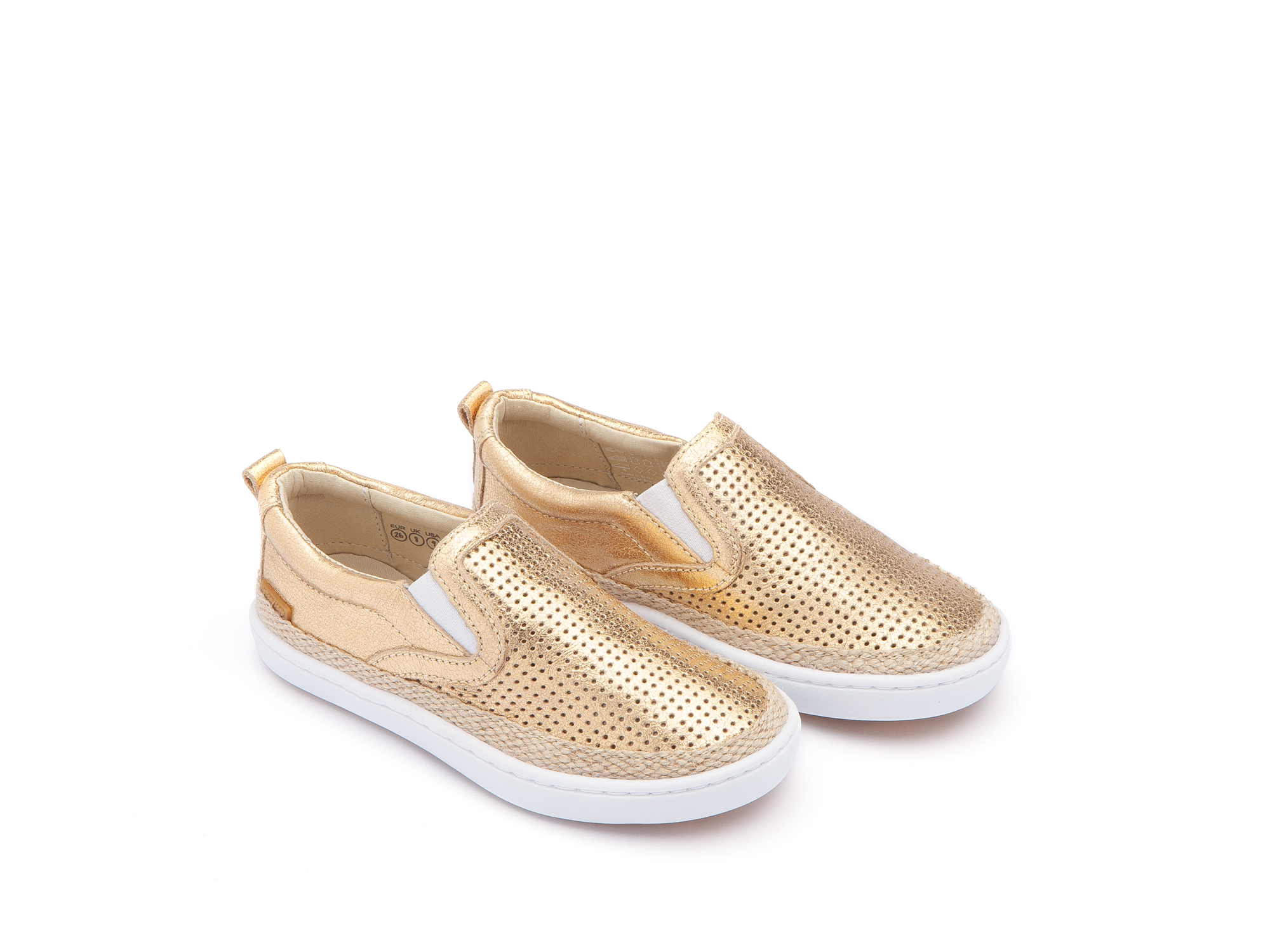 Tênis Little Straw Golden Shine Holes/ Golden Shine Toddler 2 à 4 anos - 0