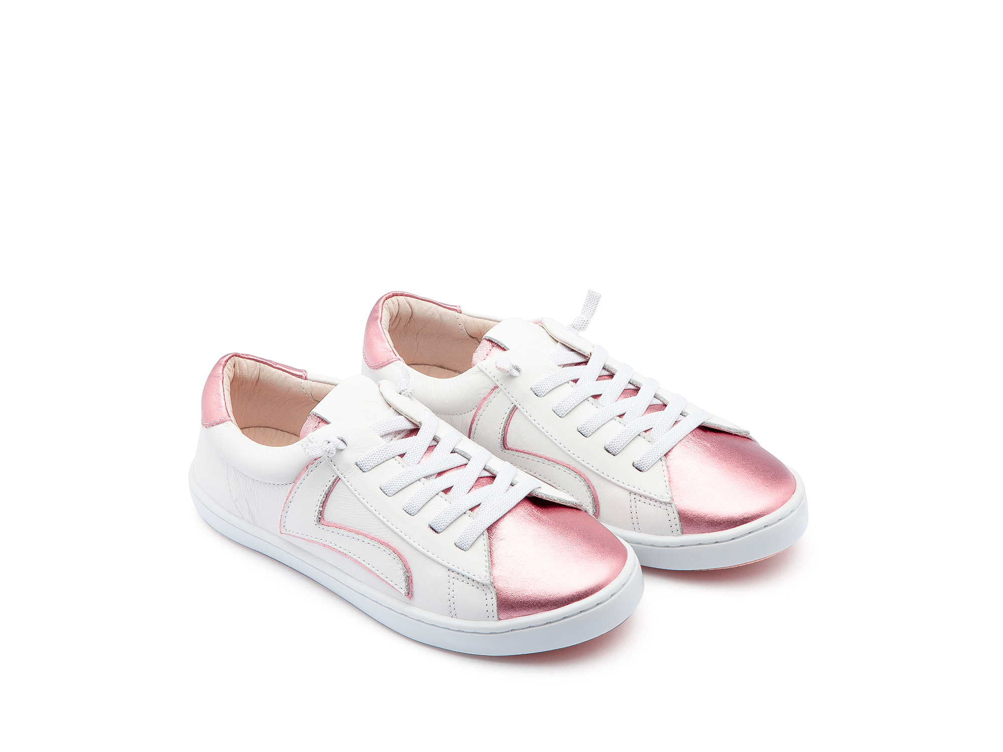 Tênis Skid White/ Rose Gold Junior 4 à 8 anos - 0