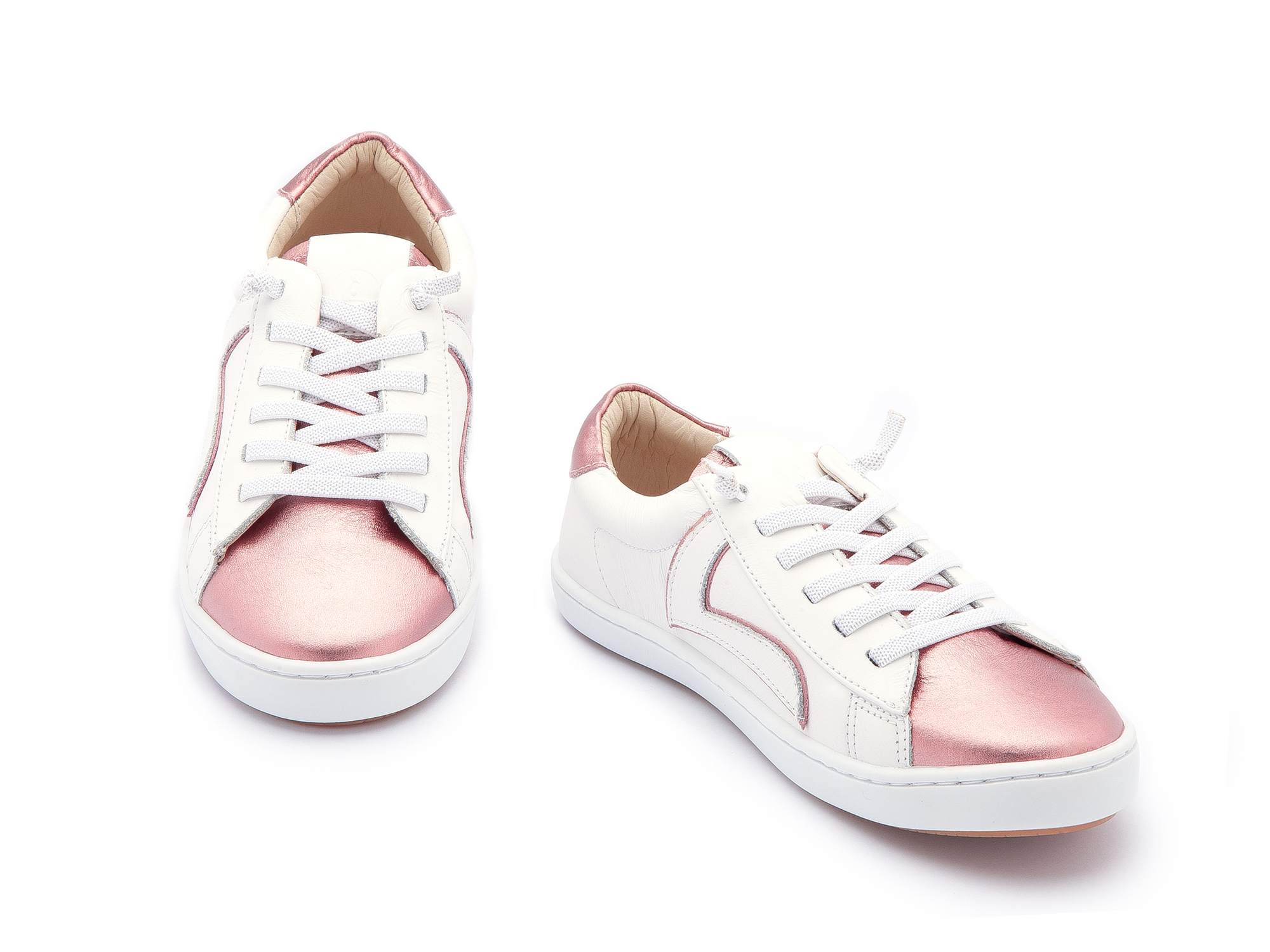 Tênis Skid White/ Rose Gold Junior 4 à 8 anos - 1