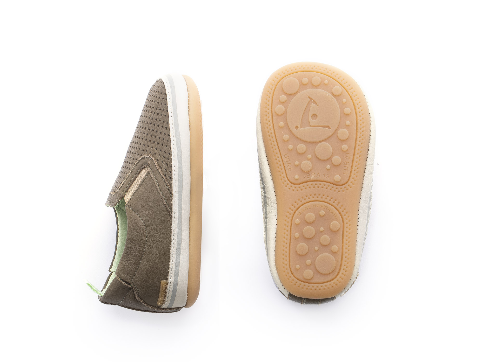 Sneaker Casual Woody Mineral Green Holes/ Mineral Green Baby 0 à 2 anos - 1