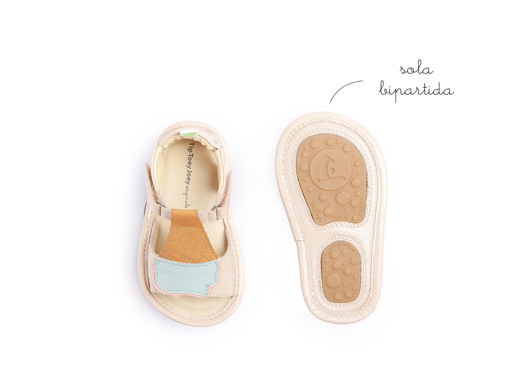 sandalia Bebê feminino ice creamy