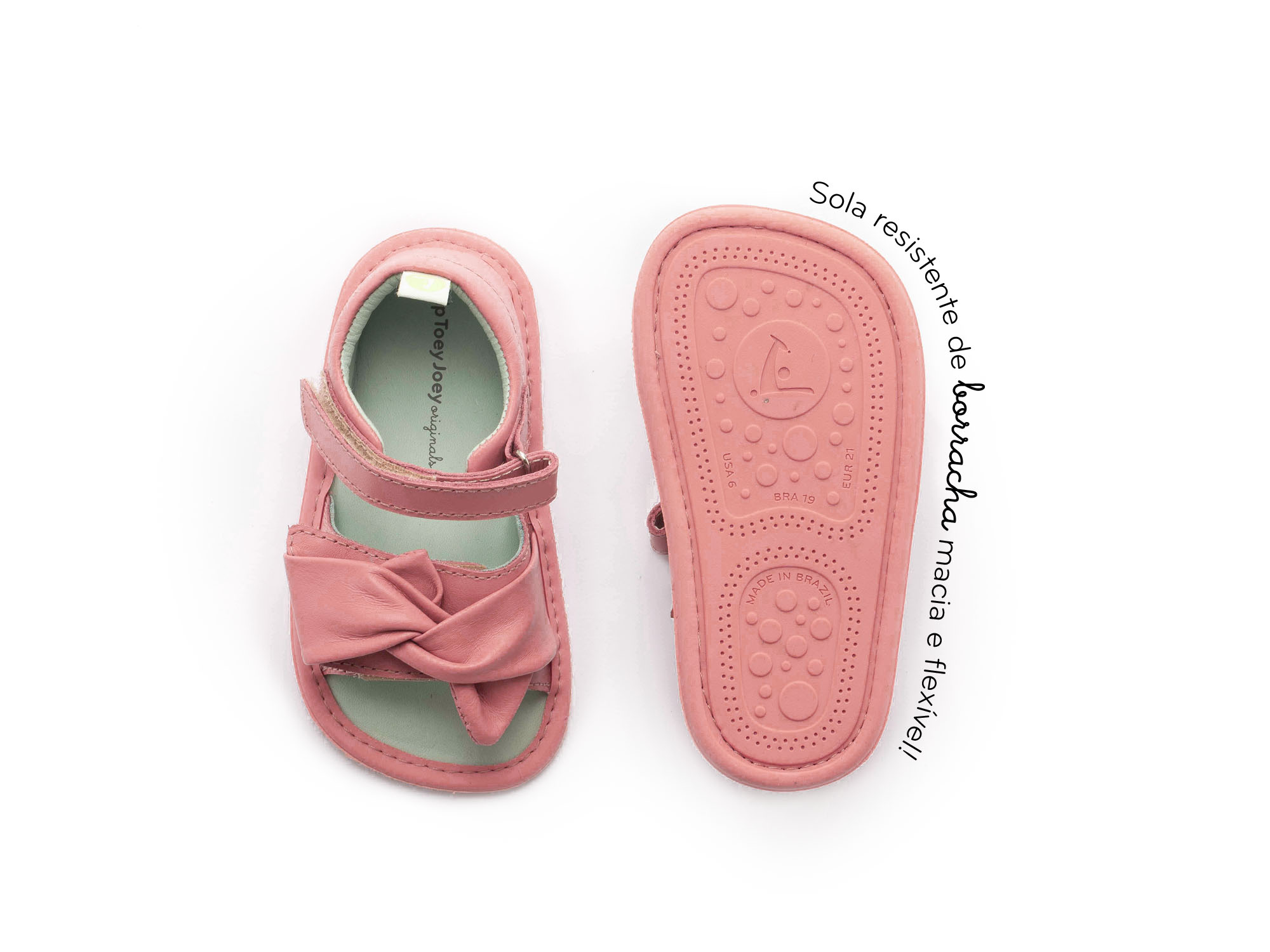 sandalia Bebê feminino swirly