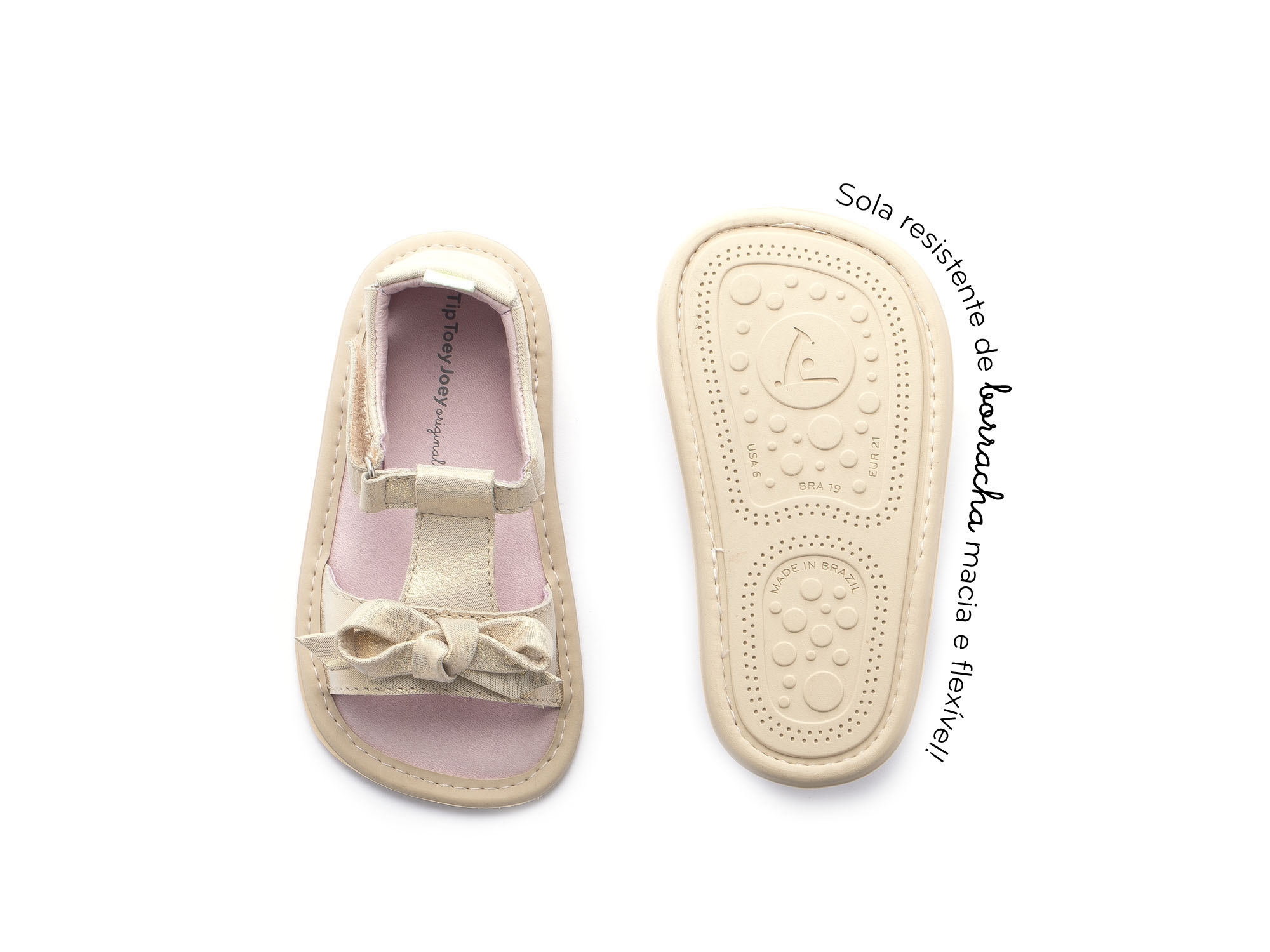 Sandália Whimsy Cotton Candy Foil Baby 0 à 2 anos - 1