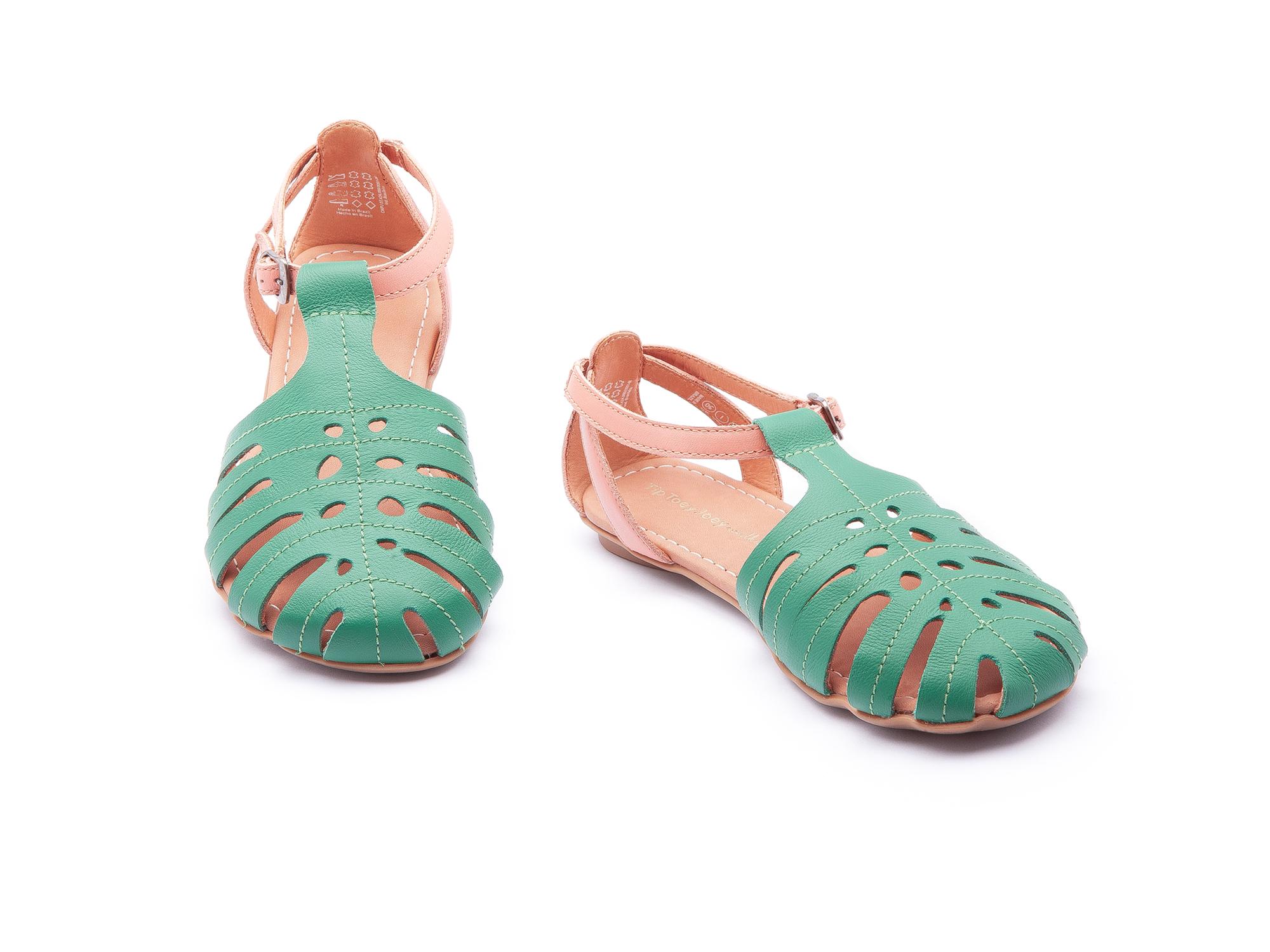 Sandália Tropical Green Leaf/ Flamingo Junior 4 à 8 anos - 1