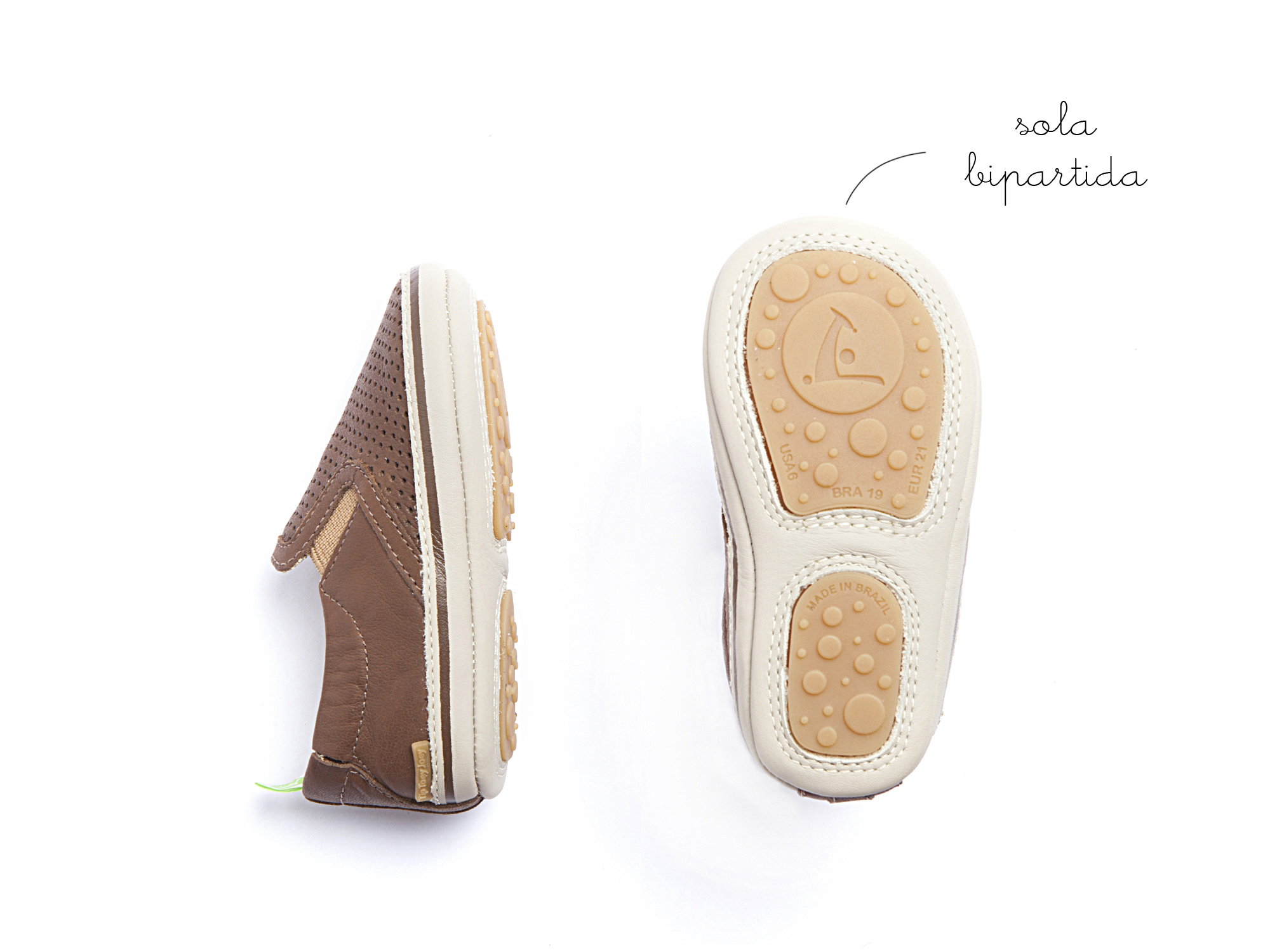 Sneaker Casual Woody Old Brown Holes/ Old Brown Baby 0 à 2 anos - 2