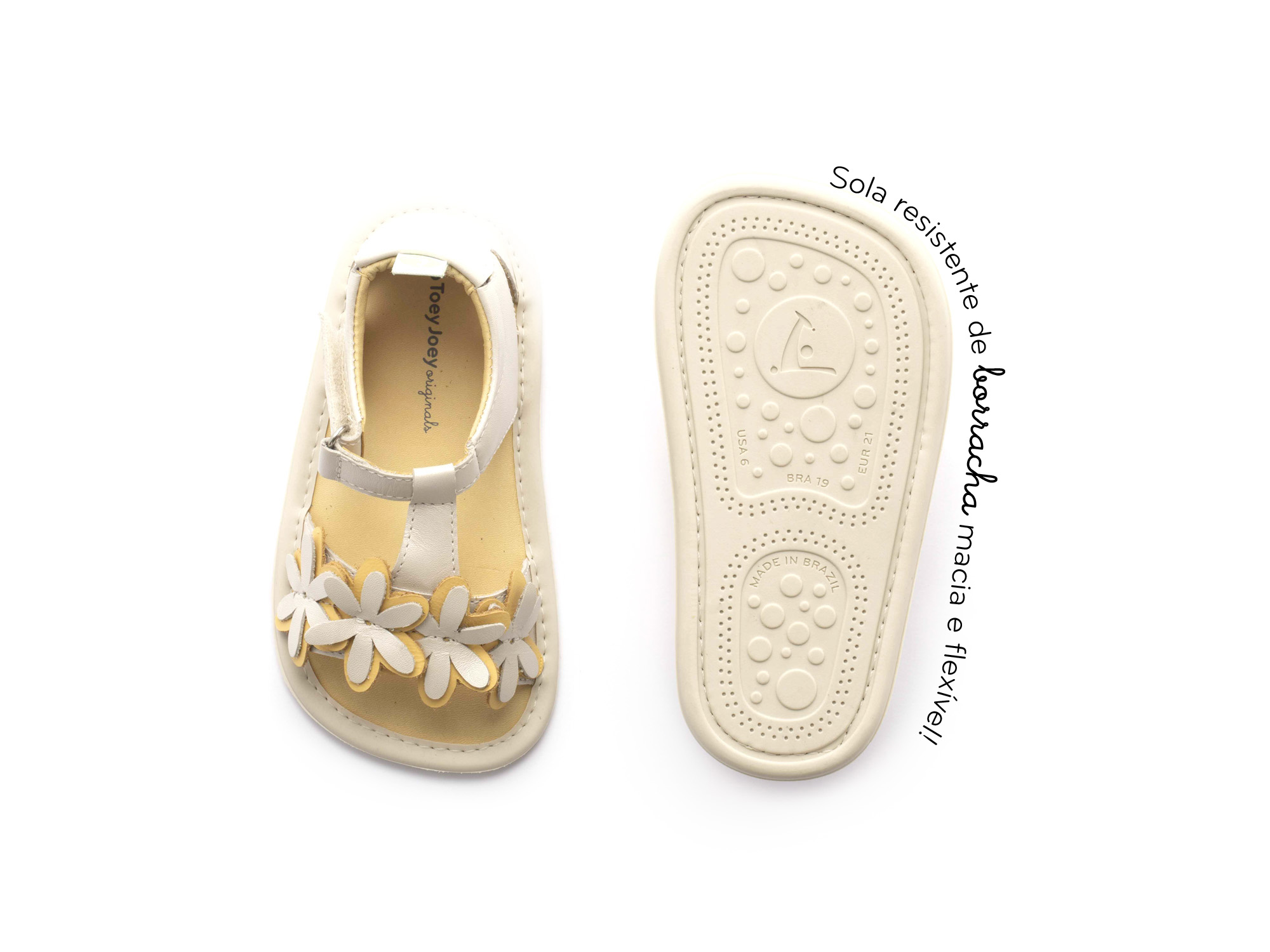 sandalia Bebê feminino daisy