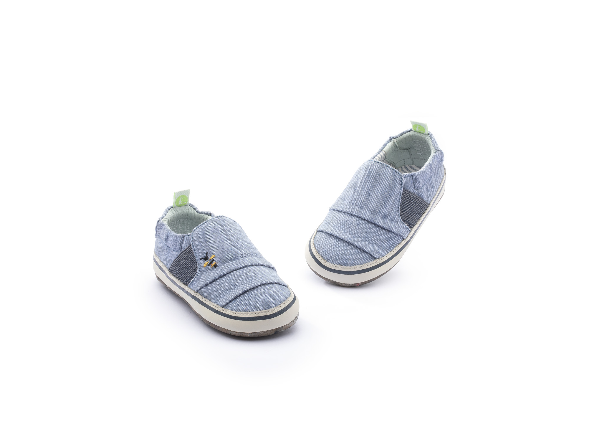 Sneaker Casual Slippy Light Blue Canvas Beeswax/ Tapioca Baby 0 à 2 anos - 3