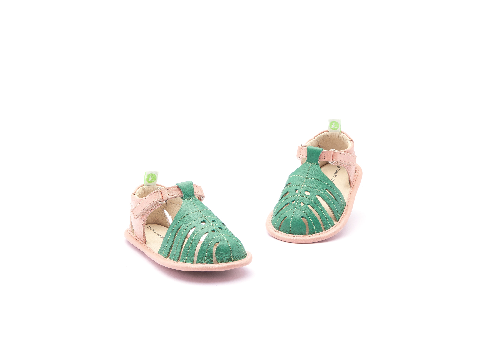 Sandália Tropically Green Leaf/ Flamingo Baby 0 à 2 anos - 2