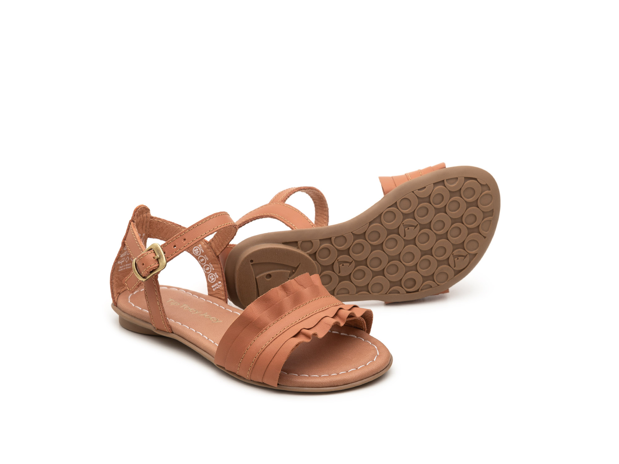 sandalia infantil feminino ruffle