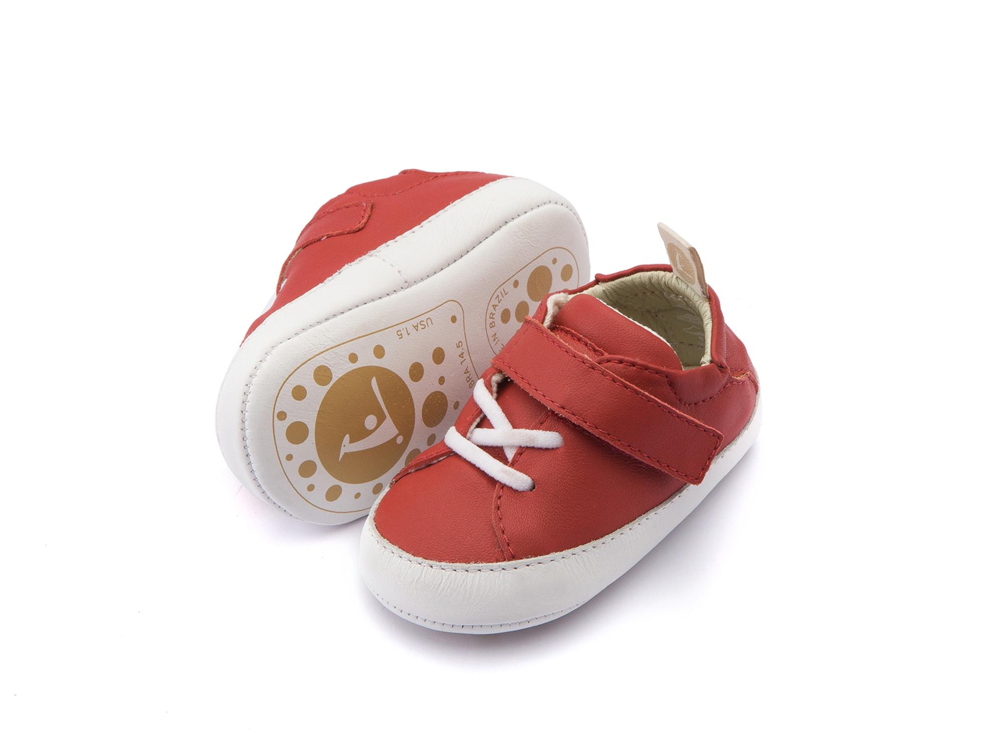 Tênis Light Pomo/ White Baby 0 à 2 anos - 2