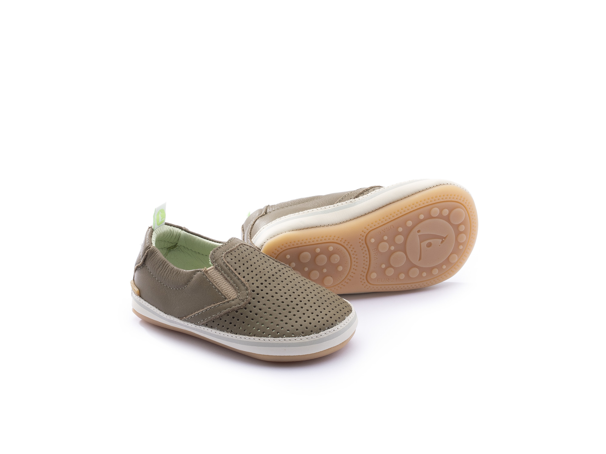 Sneaker Casual Woody Mineral Green Holes/ Mineral Green Baby 0 à 2 anos - 0