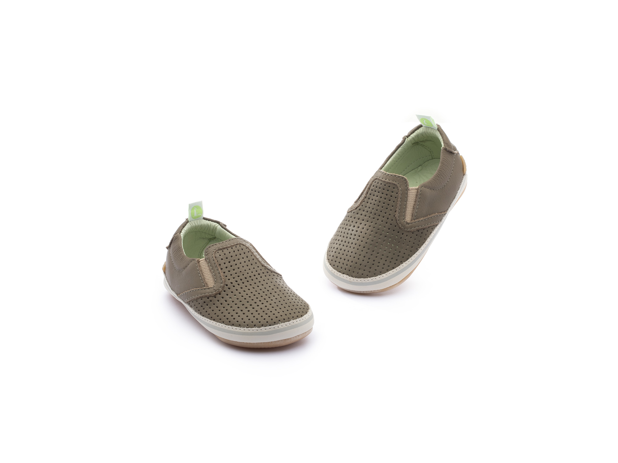 Sneaker Casual Woody Mineral Green Holes/ Mineral Green Baby 0 à 2 anos - 3
