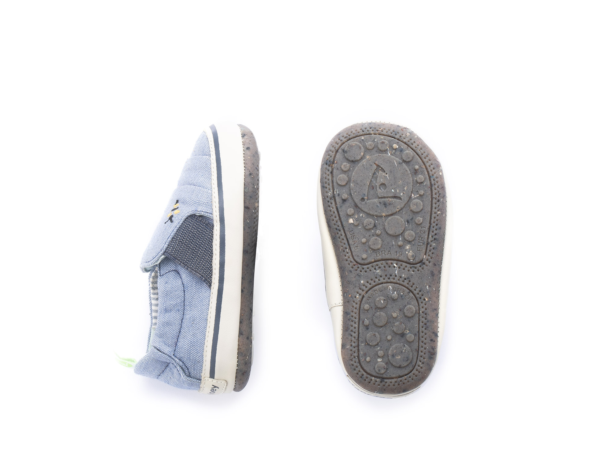 Sneaker Casual Slippy Light Blue Canvas Beeswax/ Tapioca Baby 0 à 2 anos - 1