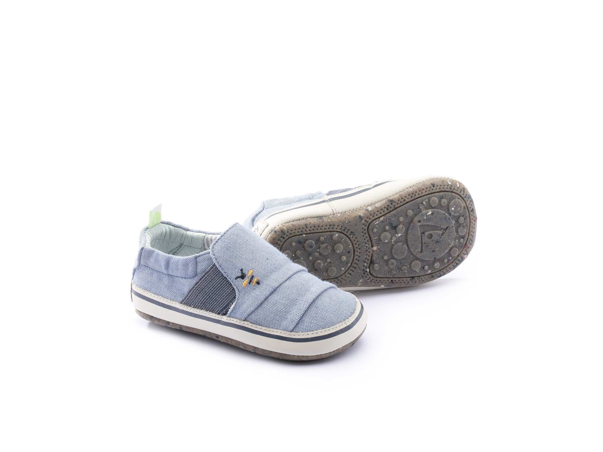 Sneaker Casual Slippy Light Blue Canvas Beeswax/ Tapioca Baby 0 à 2 anos - 0