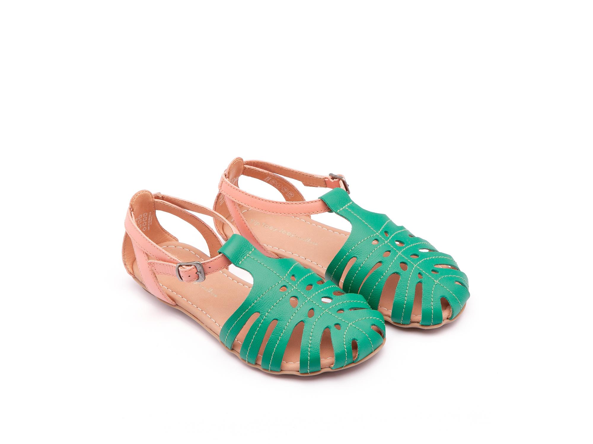 Sandália Tropical Green Leaf/ Flamingo Junior 4 à 8 anos - 0