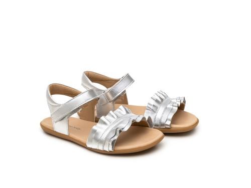 Sandália infantil feminino ruffle
